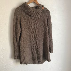 Anthropologie Moth Brown Cowl Neck Sweater Size M